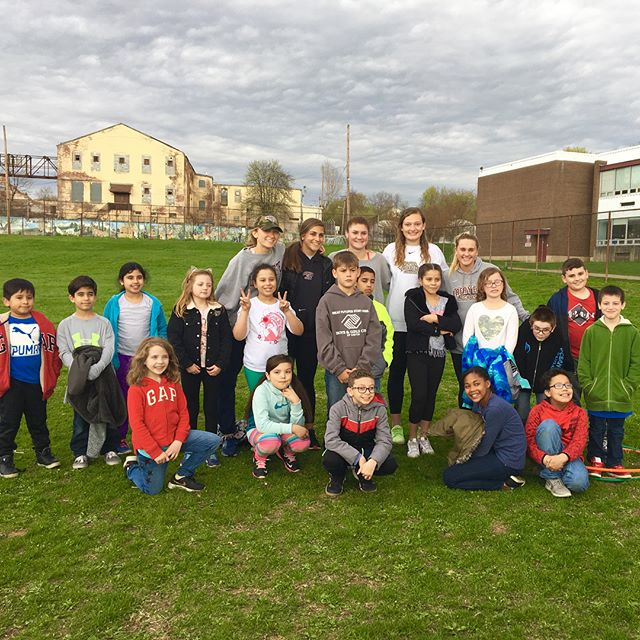 AC had a great day playing games with kids from Cheston Elementary School yesterday 🤾🏽♀️⚽️ Thank you for inviting us!! ☀️