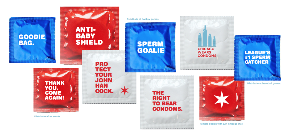 Chicago wears condoms