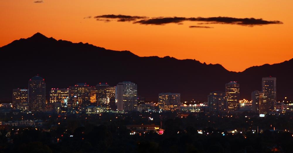 #28 -- Phoenix Skyline, Dusk.