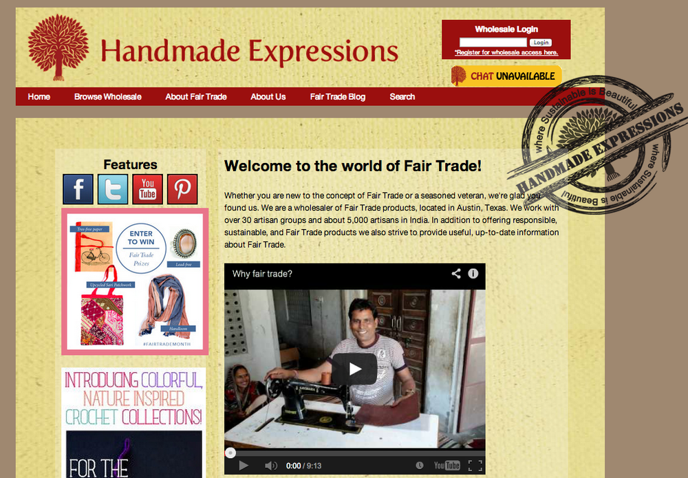 BEFORE:  Handmade Expressions Homepage