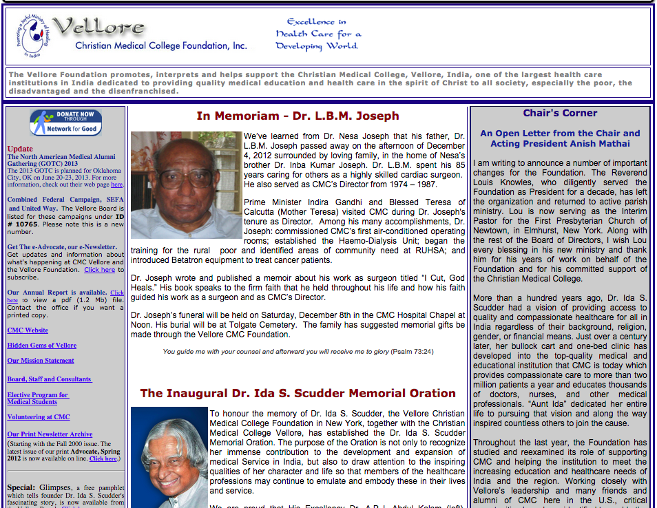 BEFORE:   Vellore CMC Foundation  Homepage