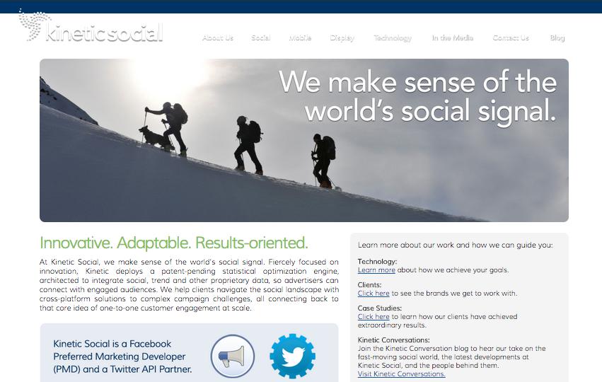 BEFORE: Kinetic Homepage