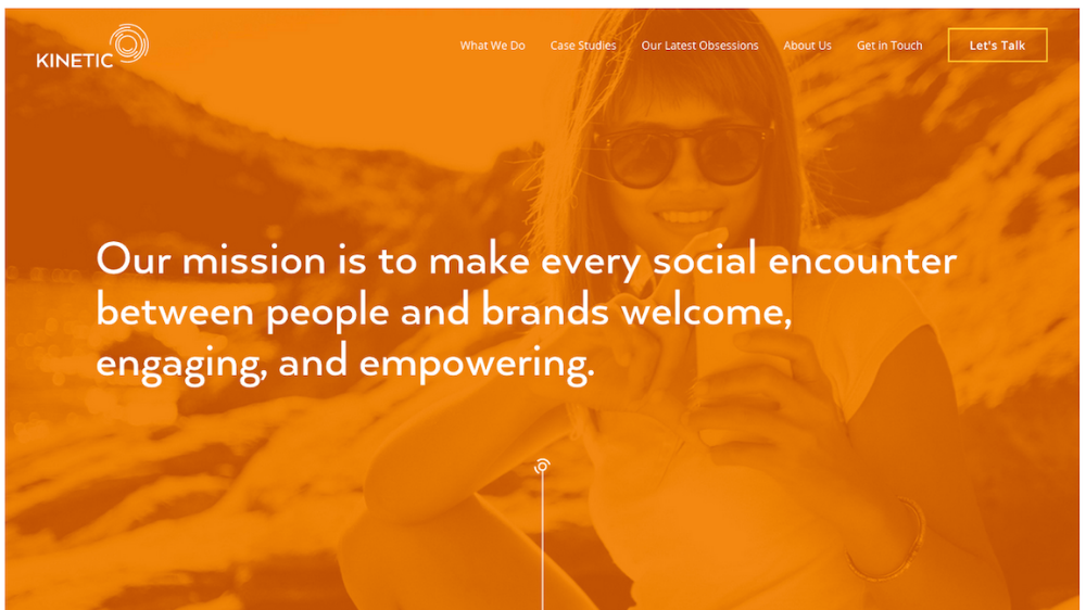 AFTER: NEW Kinetic Homepage