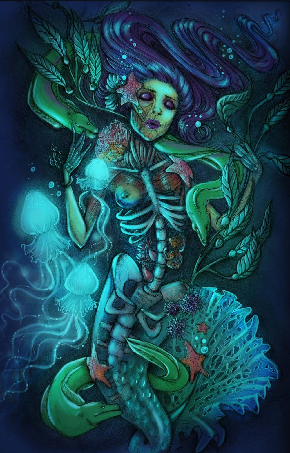 siren-mermaid-underwater-illustration