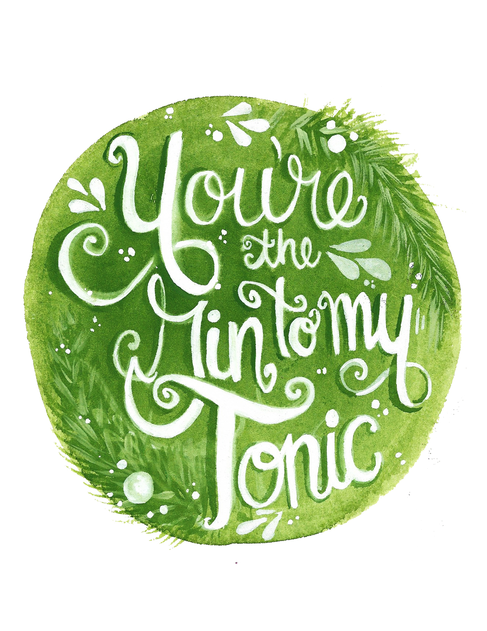 gin-to-my-tonic-illustration-typography