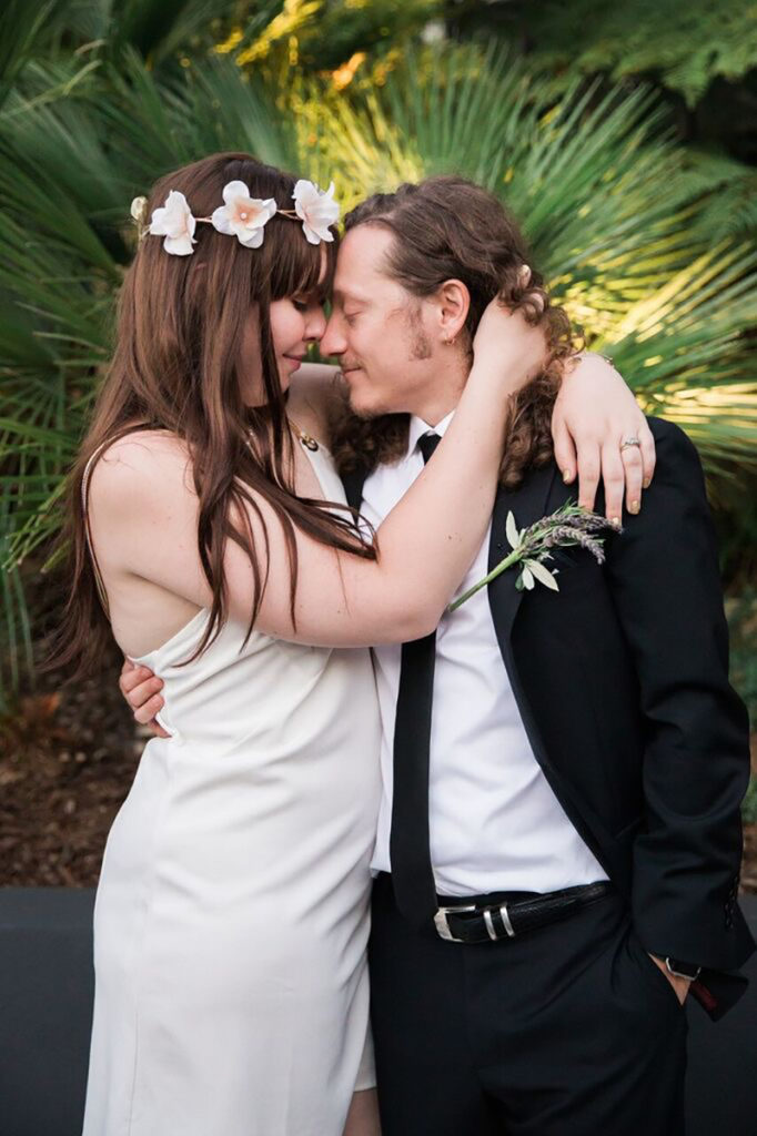 custom bridal flower crowns for boho wedding