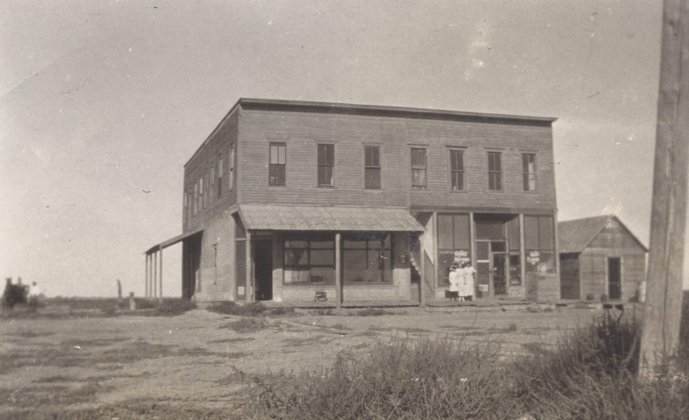 The first courthouse of Haskell County