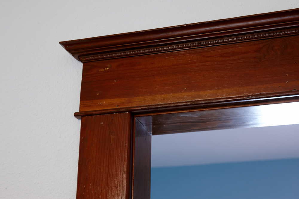 Beautiful wood trim inside The Johnson House