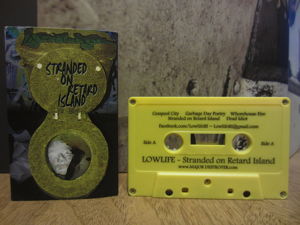 Lowlife - Stranded on Retard Island cassette tape