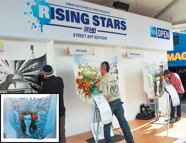 Airbrush artists competed during the Rising Stars of SEMA competition