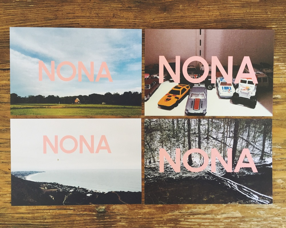 First NONA merch is now available at live shows! Pre-stamped postcards for writing to the special folks in your life.