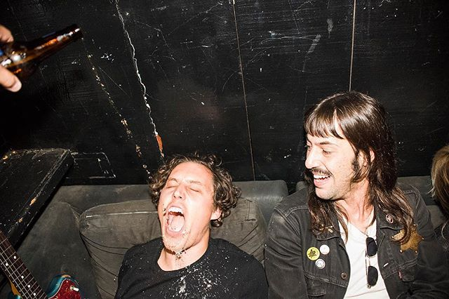 Right before we played @thetroubadour our friend @mjambriz decided to poor a beer into Drew's mouth and document it. This is it, obviously. A lot missed.