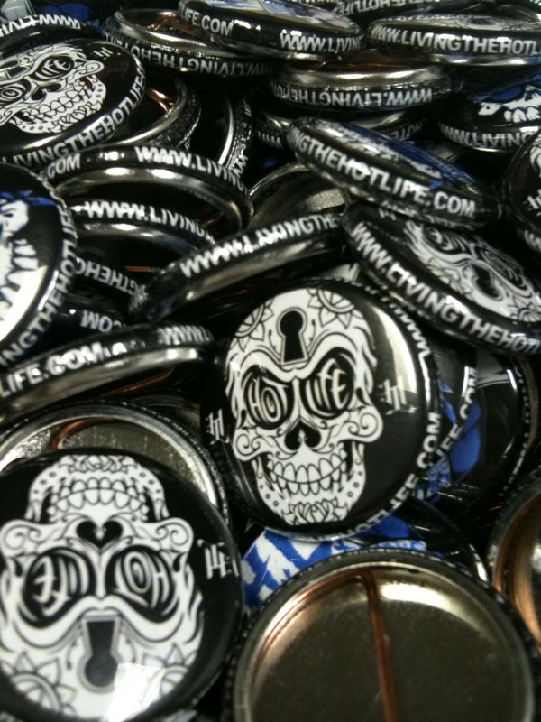 Anyone who is into HOTLIFE knows we go ALL OUT… Always. Orders are jam packed with cool stuff. We take care of our family, and crew. Check out some of the limited edition HL pins we've been putting in orders. They're the finest quality hooked up by our beloved Katie at Breakout! Buttons. If u need pins check out B!B at  www.breakoutbuttons.net  <3