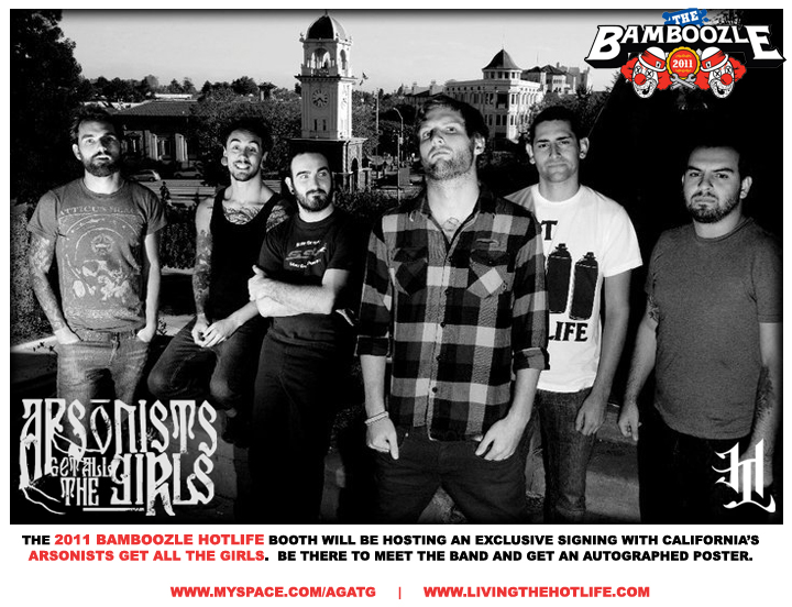 HOTLIFE is proud to announce we'll be at Bamboozle 2011. We're gonna have exclusive new releases, freebies, and signings by some of the HOTLIFE family like our brothers Arsonists Get All The Girls! We'll have more details closer to the date, but be sure to show up and pick up a poster and meet the guys!