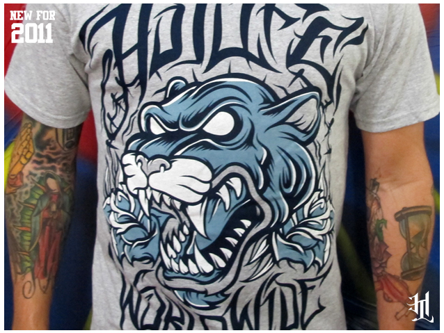 "2 More Brand New HOTLIFE releases for summer'11 HL - ""Panther"" and ""Loyal To The Grave"". Both feature the classic HOTLIFE hand drawn artwork and both hand printed with sultra soft waterbased ink and specialty discharge printing so it will be the most comfortable shirt you will ever own. Check em out in the store available..NOW! If youre a friend please Repost so we can get some traffic and keep HL going strong. Thanks to the LYM PRINTSHOP for coming through with some beautiful print work."