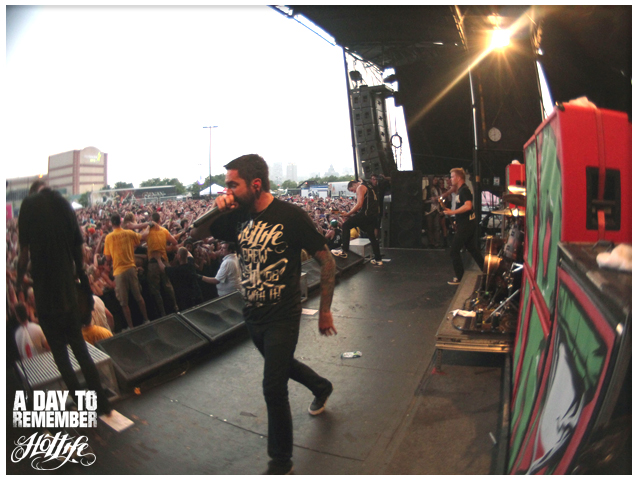 Check out our brothers in A Day To Remember at Warped Tour 2011 living the HOTLIFE. You can also kinda see the custom amps I designed. Check em out if youre at Warped and rep your HL gear cause they are oldschool crew. www.livingthehotlife.com