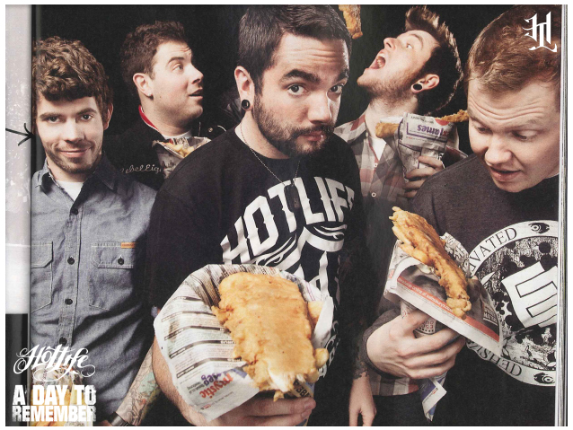 Came across this AP Magazine feature of A Day To Remember reppin HOTLIFE throughout. Cant beat it. Great band, great guys. Oldschool HOTLIFE crew. Just finished up another NEw Found Glory design for the PPND tour. The HOTLIFE Fall Collection is almost ready for release, we have a tentative date of 9/23/11. Spread the word. :)  www.livingthehotlife.com