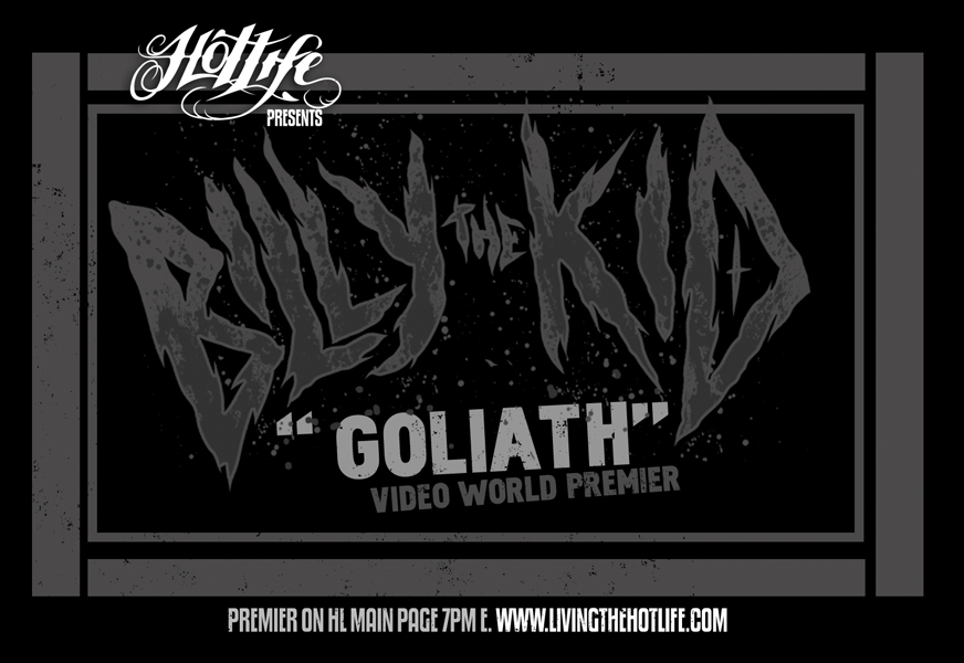 "HOTLIFE Present's BILLY THE KID ""GOLIATH"" Music Video World Premier! Finishing recent tours with Terror and H20, BTK are one of the most legit modern hardcore acts today! Hailing from Costa Rica, they've made their name through hardwork and hc ethics. We're so proud of our brothers and stoked to be able to be premiering the video tonight! Check it out at the top of the video column on at  www.livingthehotlife.com  and please repost if you can."