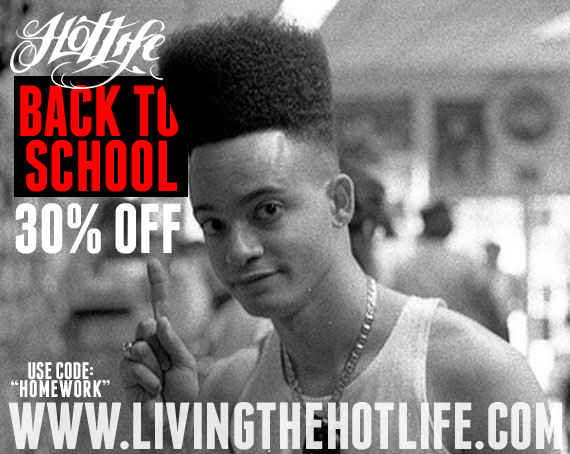 "The #HOTLIFE BACK TO SCHOOL sale. 30% OFF EVERYTHING! Grab something actually decent, and original for once. Use Promo code: ""HOMEWORK"" and pick up rad stuff. Please repost, retweet, blog whatever. The more people eyes we get on this the more awesome stuff we can design and more sales we can offer. Thanks everyone.  www.livingthehotlife.com"