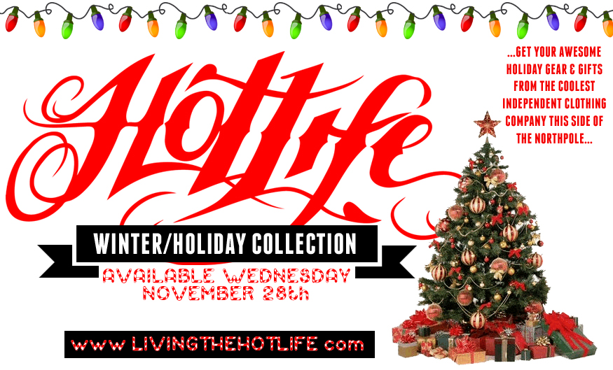 "Tomorrow we will be releasing our Winter Designs. Our much anticipated ""Ugly Xmas Sweater"", H.A. Limited Shirt, Ladies exclusive high end sweatshirt, and throwback HOOTLIFE Crewneck, etc. All of which will make perfect UNIQUE holiday gifts for yourself or others :)   www.livingthehotlife.com"