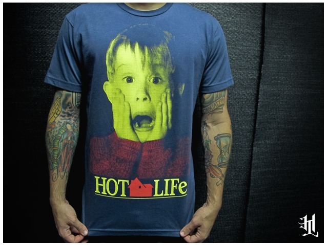 "Pick up our new #HOTLIFE ""Kevin"" T. Its easily the most comfortable shirt ever made in human history, and it features our favorite 90's kid hero. Wear this anytime you're riding in a limo, making reservations at the Plaza Hotel, or setting traps all over da house. Available now at:  www.livingthehotlife.com/store"