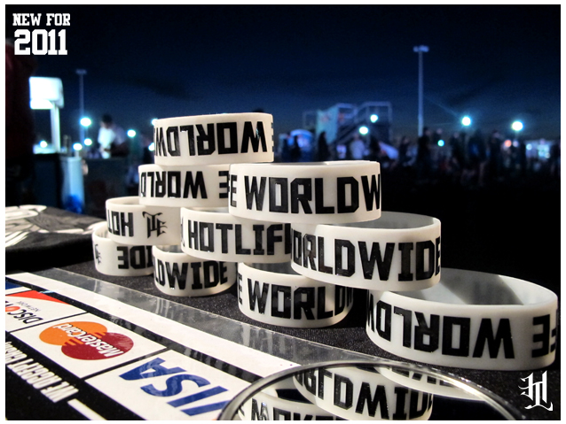 Limited Edition Glow In The Dark HOTLIFE - WORLDWIDE WRISTBANDS Available Now.  www.livingthehotlife.com