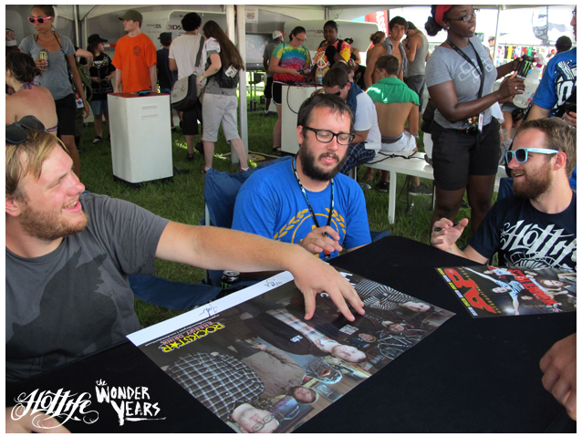Check out our boys from The Wonder Years repping HOTLIFE  at their autograph signing this weekend. One of the best bands on Warped 2011  www.livingthehotlife.com