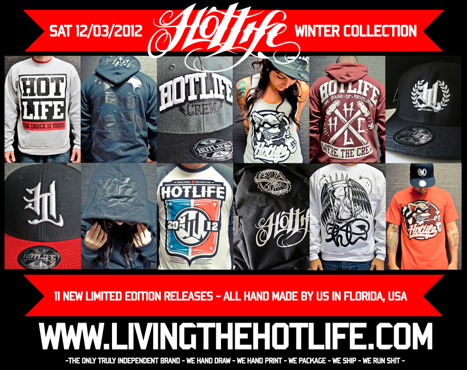 The New HOTLIFE WINTER COLLECTION will be released THIS SATURDAY. www.livingthehotlife.com Check this preview!