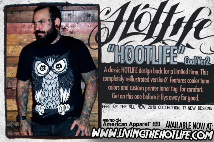 Official web ad for the new Hootlife release. Check it out. :)