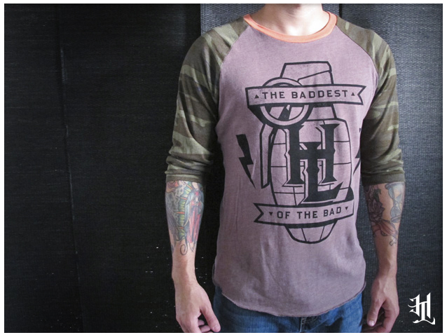 "HOTLIFE ""Custom Camo"" 3/4 Sleeve. Top quality, unique style, hand printed in FL. The Baddest of the bad and limited edition. Only available at: www.livingthehotlife.com/store"