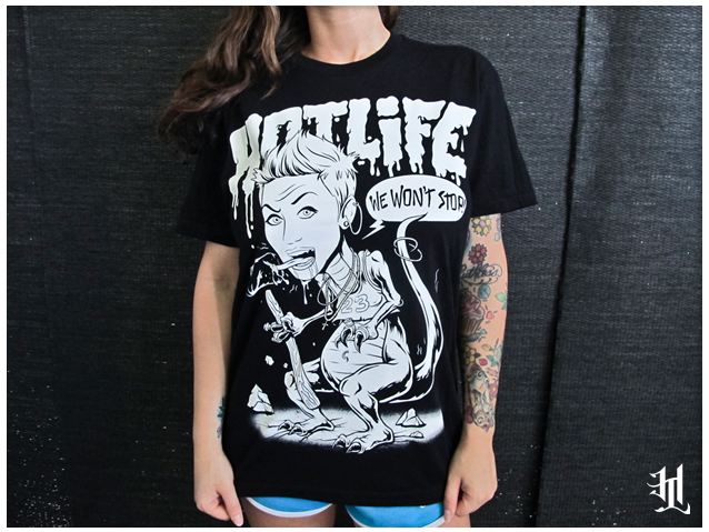 HOTLIFE just released one of the raddest shirts around.  Pick it up: www.livingthehotlife.com