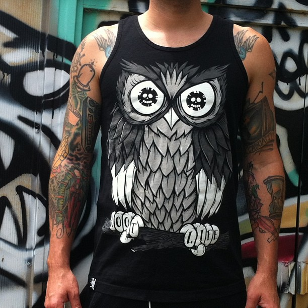 #HOTLIFE #sneakpeek. The new #unluckysummer #collection with include the limited #tanktop version of our classic #HOOTLIFE #artwork. Available 5/31. 🔥🔥LIVINGTHEHOTLIFE.COM🔥🔥 #hotlifecrew #miami #florida #illustration #design #designer #fashion #style #bmx #punk #owl #owls #owlshirt #tattoos #graffiti