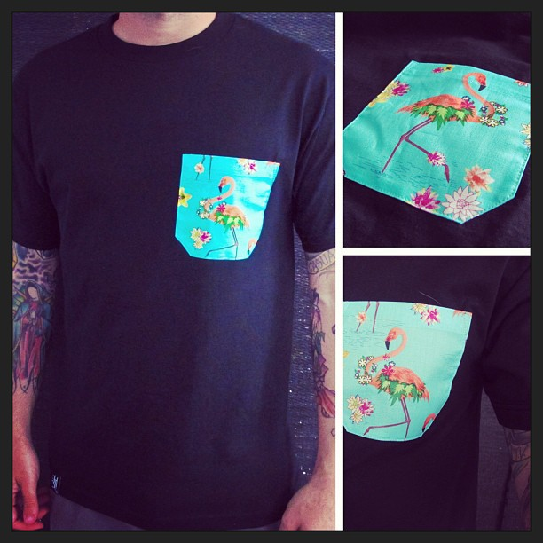 Check our rad new #HOTLIFE #custommade #Flamingo #pockettee. Features custom hang tag, custom inner tag and all made in FL with love. Get into it. 🔥🔥LIVINGTHEHOTLIFE.COM🔥🔥#summer #custom #handmade #florida #limitededition #rare #streetwear #brand #cutandsew #hotlifecrew #underground #company #hundreds #neff #style #fashion #miami #flamingos