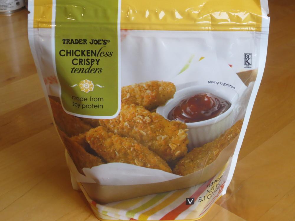Chicken-less Crispy Tenders: $2.99 per 8.1 oz bag (as of Nov 2013)