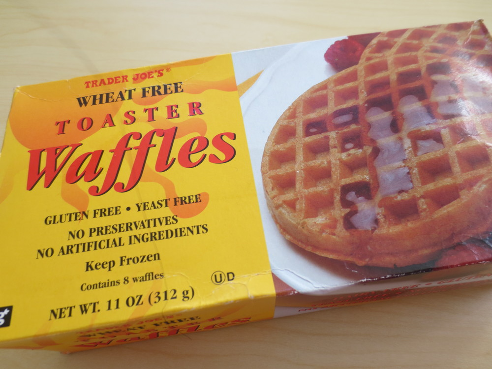 Wheat-free Toaster Waffles: $1.99 per box of 8 waffles (as of Nov 2013)