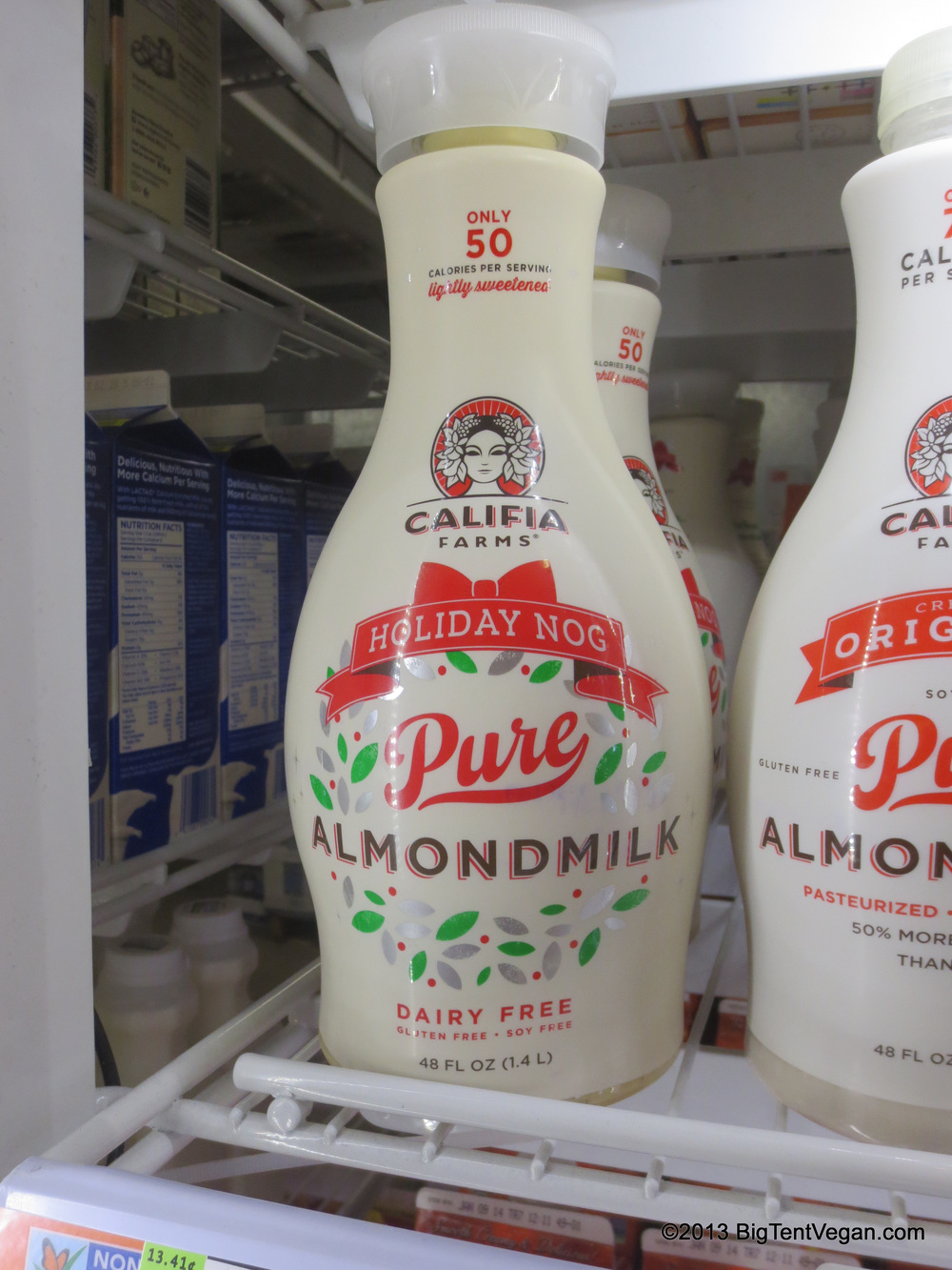 Califia Farms Almond Milk Nog (regular price $4.29 per 48 oz. jug as of Nov 2013 in Orange County, CA)