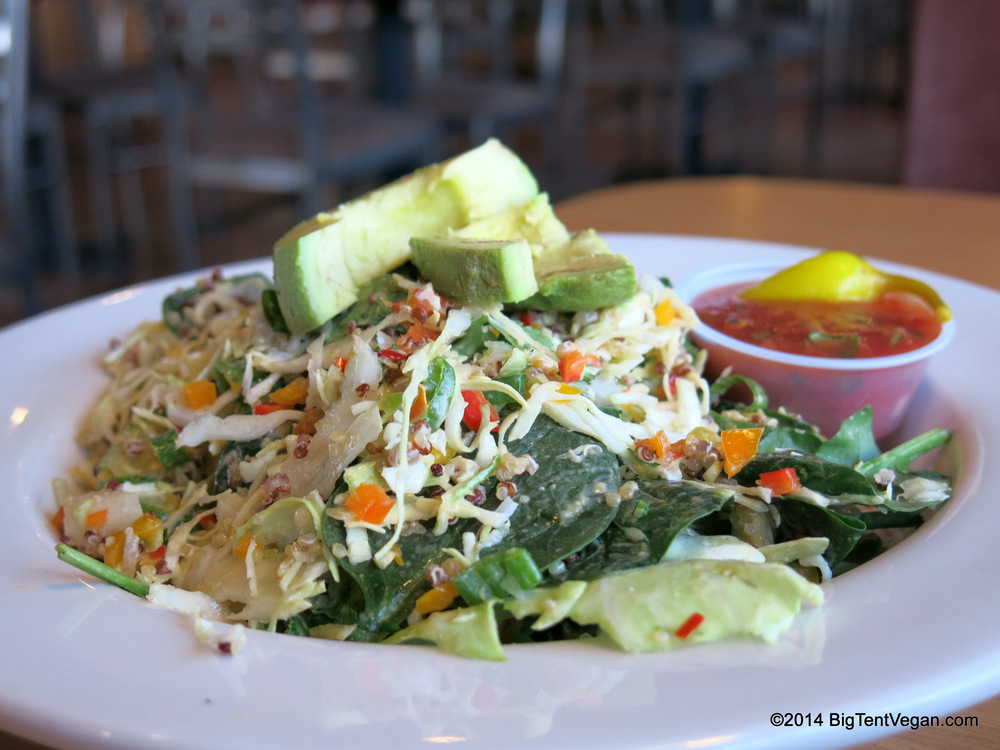 Sharky's Vegan Quinoa Salad...available for a limited time only.