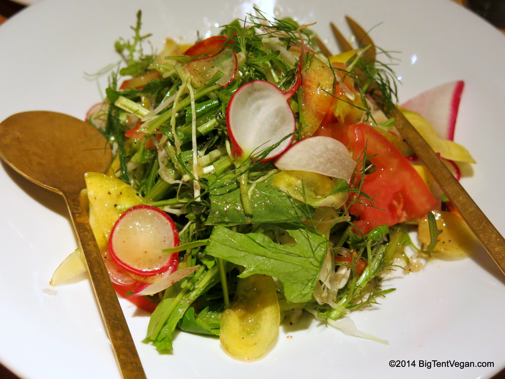 Garden Salad with Onion Mustard Dressing from 100% vegan restaurant Tosca (Kyoto, Japan)