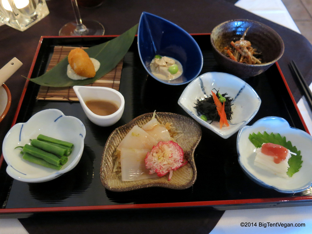 Course One: Kaiseki Plate by Chef Jun Matoshiro, Shojin (Culver CIty, CA)