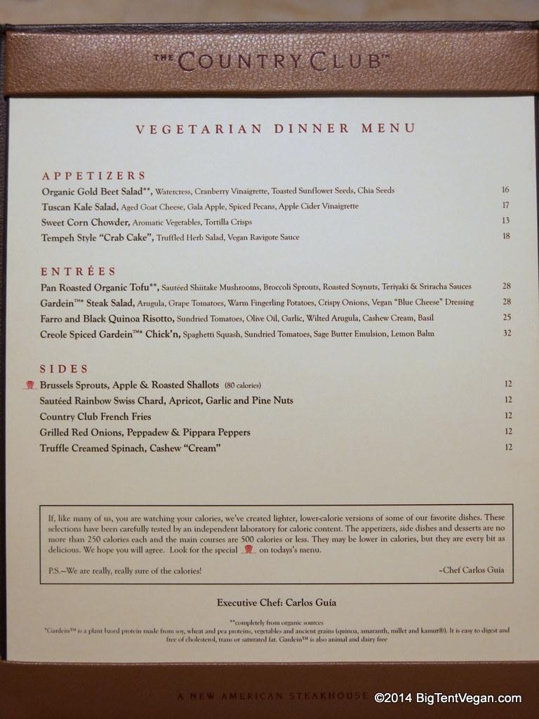 Country Club At The Wynn (veg/vegan Dinner Menu As Of Dec 2014) Part 93