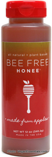 Vegan Bee Free Honee (made from apple nectar). available in specialty health food stores and online at veganessentials.com.