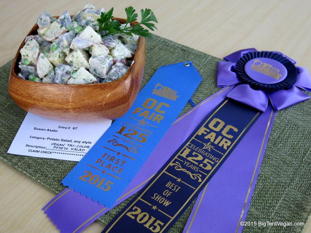 Vegan Potato Salad Wins Best of Show at 2015 Orange County Fair Salad Daze Competition!