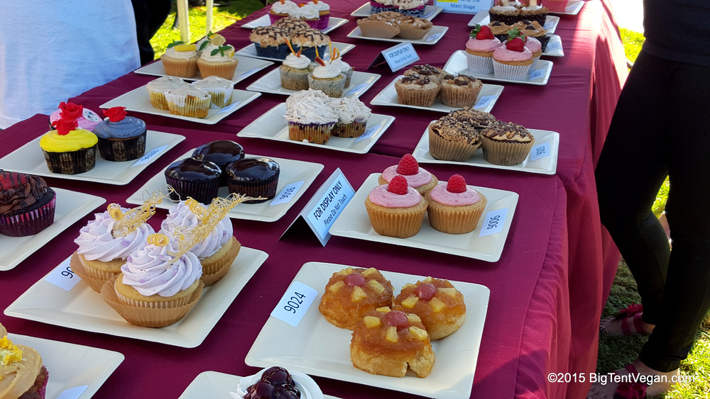 2015 SoCal VegFest Vegan Cupcake Competition Display Table (Costa Mesa, CA, USA)