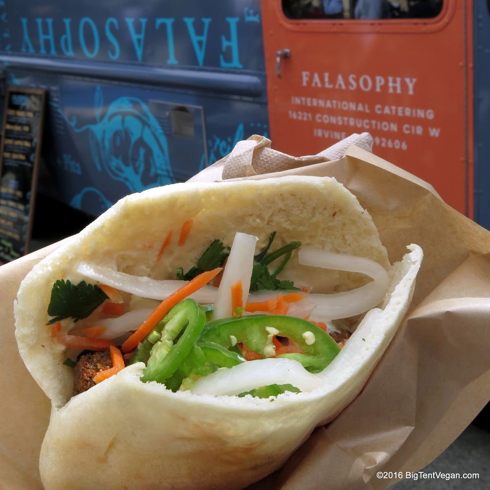Banh Mi Falafel Pita from Falasophy Food Truck