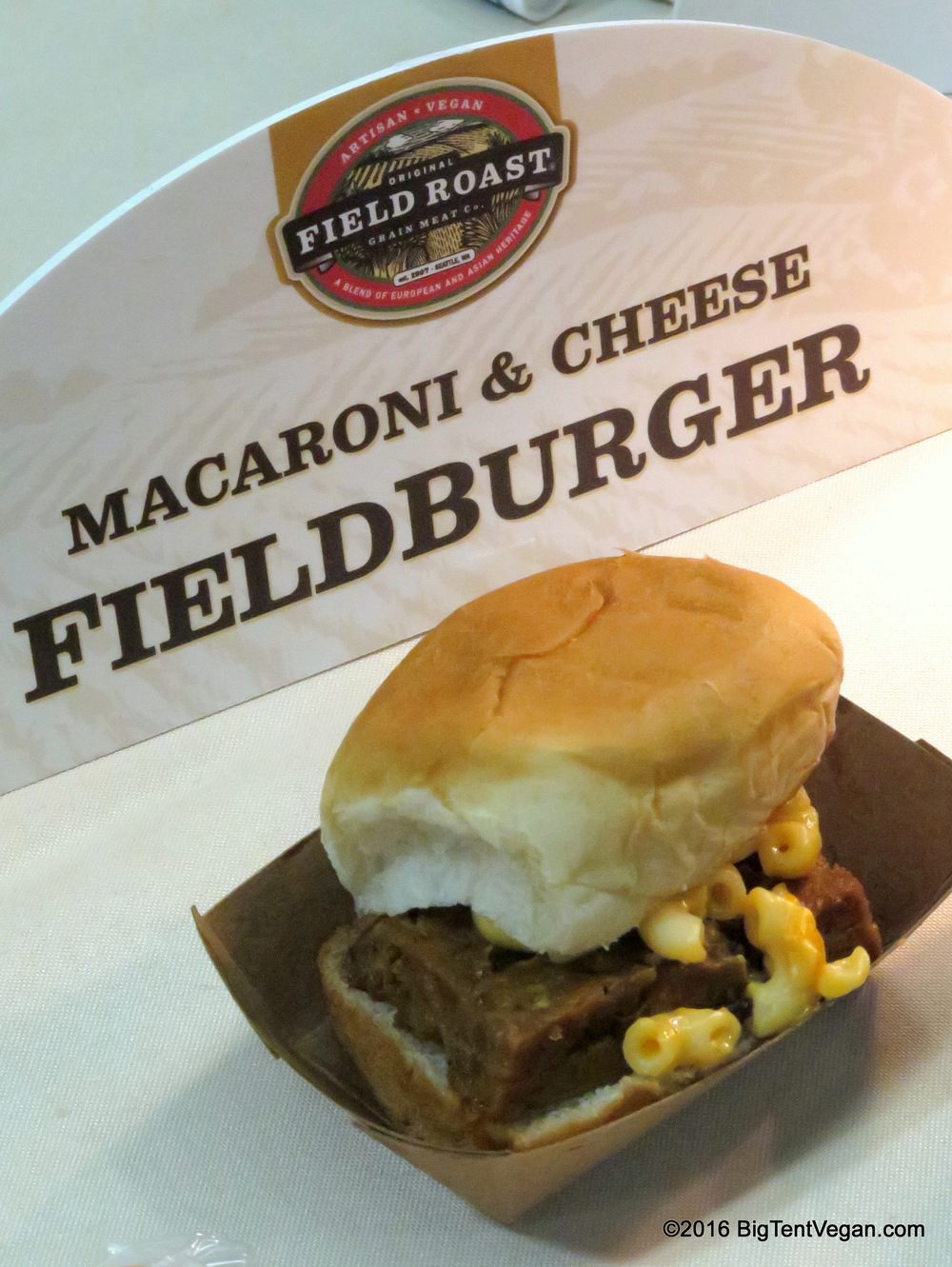 Field Roast Macaroni & Cheese Fieldburger