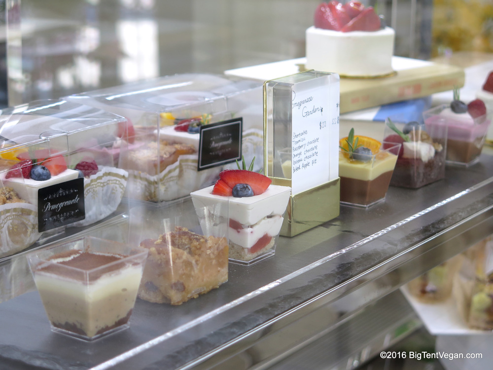 Pomegranate Garden: A Sampler of 6 of their signature desserts -- Strawberry Shortcake, Tiramisu, Raspberry Chocolate, Orange Chocolate, Chocolate Gateau, and Apple Pie.