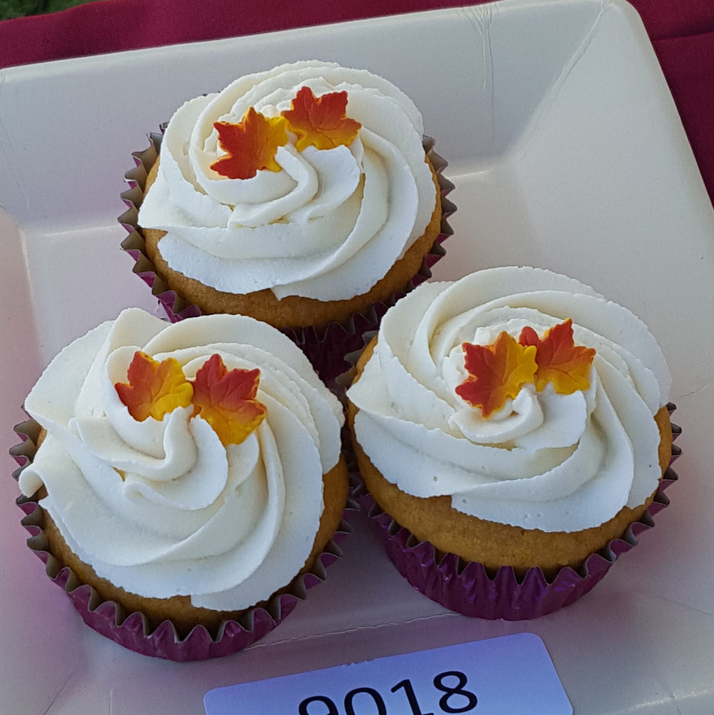 3rd Place: REGINA TATE     PUMPKIN CUPCAKES WITh CREAM CHEESE Frosting