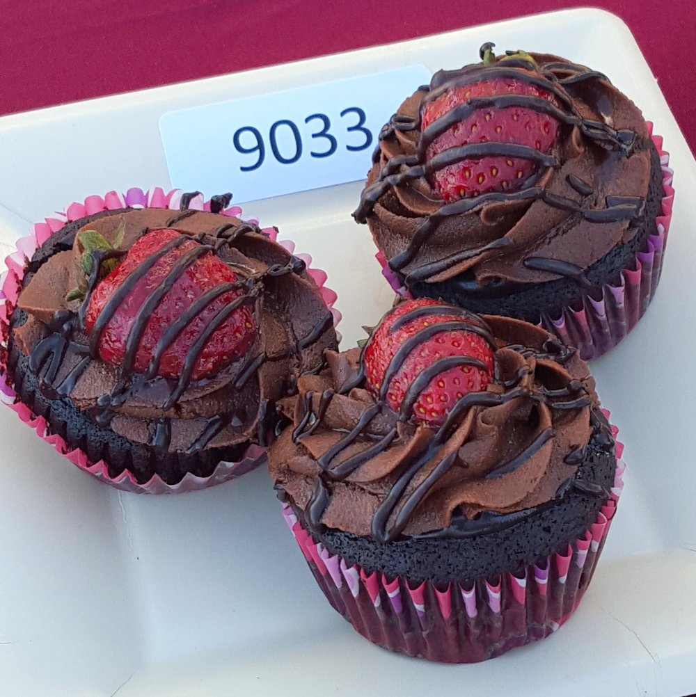 3rd PLACE: AVANI KATHURIA     CHOCOLATE CUPCAKES WITH STRAWBERRY FILLING AND RICH CHOCOLATE FROSTING