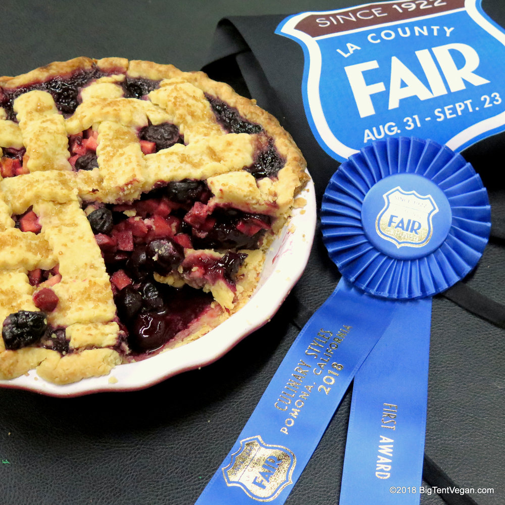 1st Place in Double Crust Fruit: Vegan Cherry Apple Pie