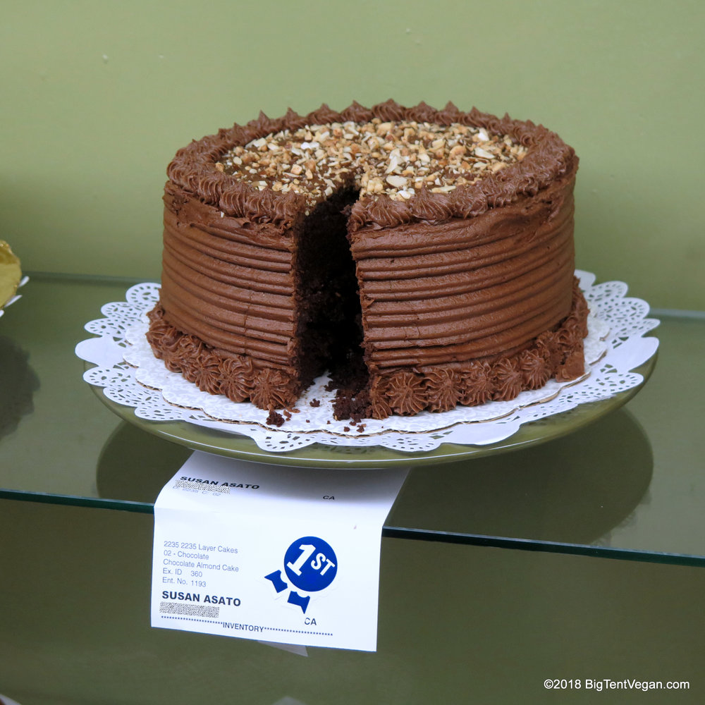 1st Place in Chocolate Layer Cake: Vegan Chocolate Almond Hazelnut